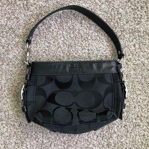 Vintage Coach Y2K 2000's Black Jacquard Handbag